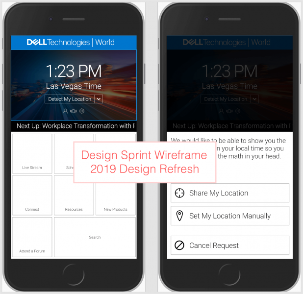 Design sprint wire: re-imagining the mobile app landing screen